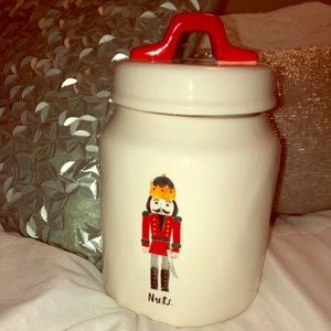 Rae Dunn by Magenta 'Nuts.' Nutcracker canister